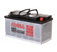 Автомобильный аккумулятор  Moll 105 Ач 353x175x190