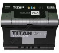 Автомобильный аккумулятор  Titan 75 Ач 278x175x190