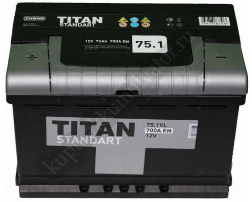 Автомобильный аккумулятор  Titan 75 Ач