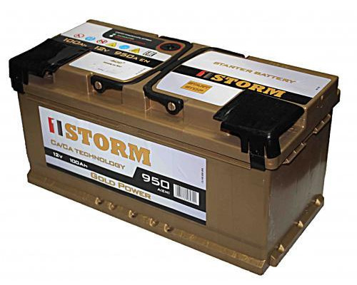 Автомобильный аккумулятор  Storm 100 Ач
