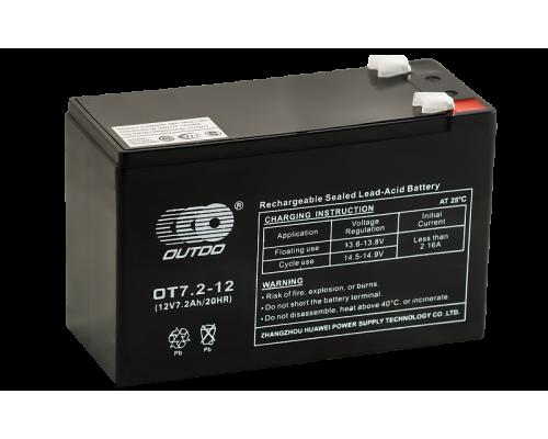 Аккумулятор OUTDO VRLA 12-7.2  (12 вольт 7.2 ампер)