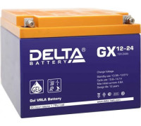Аккумулятор Delta GX 12-24 (12 вольт 24 а.ч)