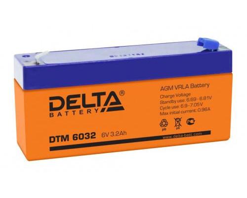 Аккумулятор для ИБП/UPS Delta DTM 6032 (6 вольт 3.2 ач)