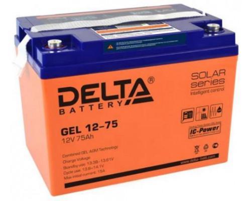 Аккумулятор Delta GEL 12-75 (12 вольт 75 а.ч)
