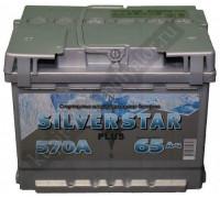 Автомобильный аккумулятор  Silverstar 65 Ач 242x175x190