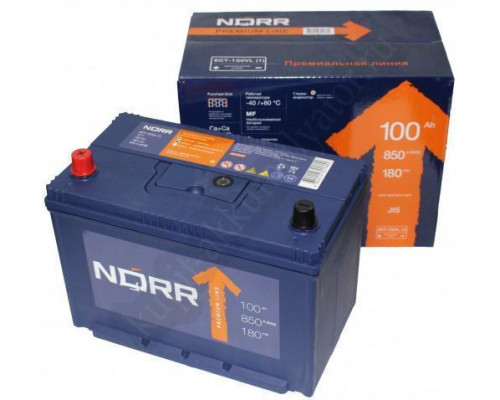 Автомобильный аккумулятор  Norr 100 Ач