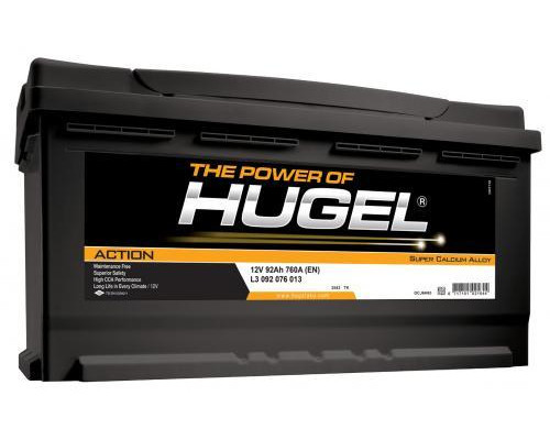Автомобильный аккумулятор  Hugel 92 Ач