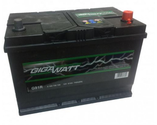 Автомобильный аккумулятор   91 Ач
