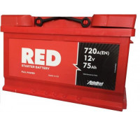 Автомобильный аккумулятор  Red 75 Ач 278x175x195
