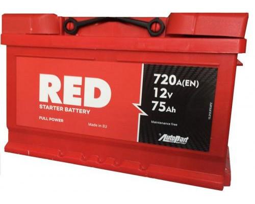 Автомобильный аккумулятор  Red 75 Ач