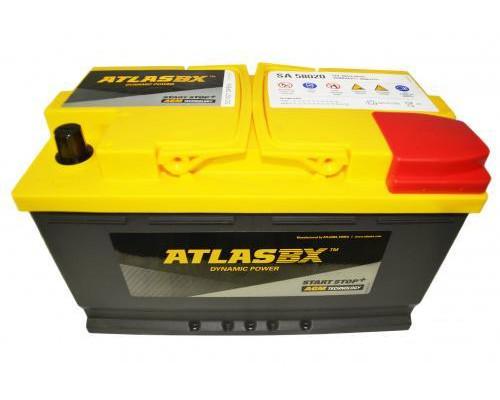 Автомобильный аккумулятор  Atlas 80 Ач