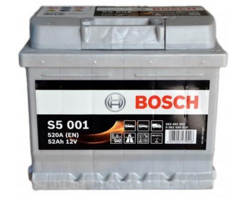 Автомобильный аккумулятор  Bosch 52 Ач