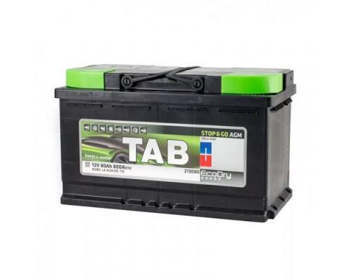 Аккумулятор TAB EcoDry AGM 80 А.ч Обратная полярность (L4 AGM ED)