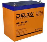 Аккумулятор Delta HR 12-55 L (12 вольт 55 а.ч)