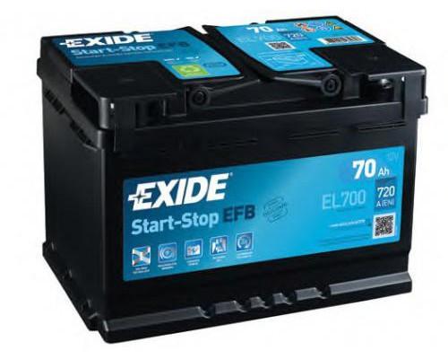 Автомобильный аккумулятор  Exide 70 Ач