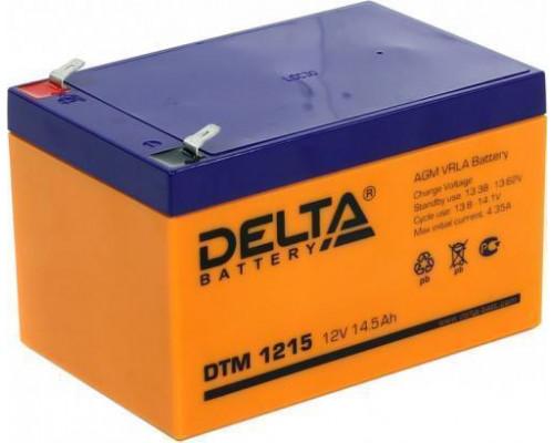 Аккумуляторы Delta DTM 1215 (12 вольт 14.5 Ач)