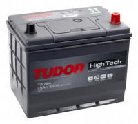 Автомобильный аккумулятор  Tudor 75 Ач 260x175x220