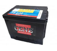 Автомобильный аккумулятор  Cene 75 Ач 230x170x186