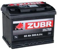 Автомобильный аккумулятор  Зубр 60 Ач 242x175x190