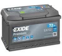 Автомобильный аккумулятор  Exide 72 Ач 278x175x175