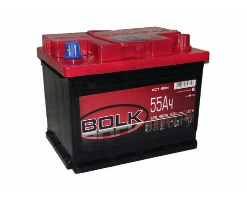 Автомобильный аккумулятор  Bolk 55 Ач