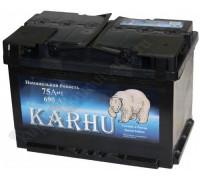 Автомобильный аккумулятор  Karhu 75 Ач 278x175x190