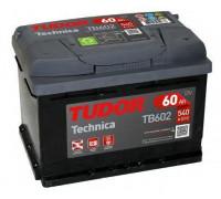 Автомобильный аккумулятор  Tudor 60 Ач 242x175x175