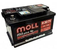 Автомобильный аккумулятор  Moll 71 Ач 278x175x175