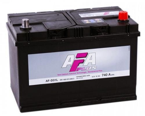 Автомобильный аккумулятор  Afa 91 Ач