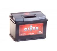 Автомобильный аккумулятор  Giver 77 Ач 278x175x190