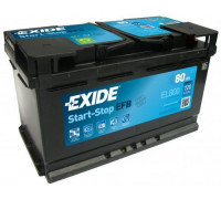 Автомобильный аккумулятор  Exide 80 Ач 315x175x190