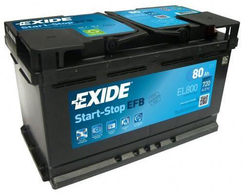 Автомобильный аккумулятор  Exide 80 Ач
