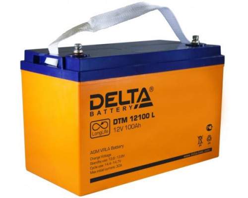 Автомобильный аккумулятор  Delta 100 Ач