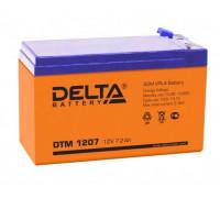 Аккумулятор Delta DTM 1207 (12 вольт 7.2 ампер)