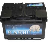 Автомобильный аккумулятор  Karhu 75 Ач 278x175x175