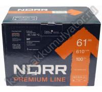 Автомобильный аккумулятор  Norr 60 Ач 242x175x175