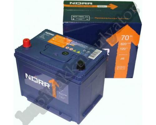 Автомобильный аккумулятор  Norr 70 Ач