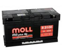 Автомобильный аккумулятор  Moll 100 Ач 353x175x190