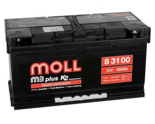 Автомобильный аккумулятор  Moll 100 Ач