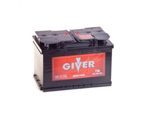 Автомобильный аккумулятор  Giver 77 Ач