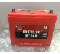 Автомобильные аккумуляторы BOLK ASIA 75 А/ч прямая L+ EN640 А 258x173x220 ABJ 751 Прямая полярность Азия