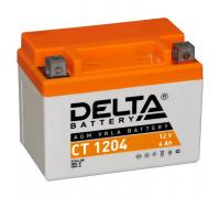 Автомобильные аккумуляторы DELTA Battery AGM 4 А/ч обратная R+ EN50 А 114x70x87 YB4L-B CT 1204 Обратная полярность