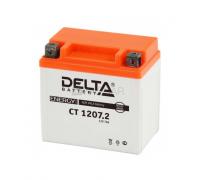 Автомобильные аккумуляторы DELTA Battery AGM 7 А/ч прямая L+ EN105 А 150x86x94 YTX7A-BS CT 1207 Прямая полярность