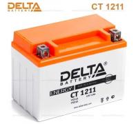 Автомобильные аккумуляторы DELTA Battery AGM 11 А/ч прямая L+ EN210 А 151x86x112 YTZ12S CT 1211 Прямая полярность