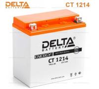 Автомобильные аккумуляторы DELTA Battery AGM 14 А/ч прямая L+ EN200 А 151х88х147 YTX14-BS CT 1214 Прямая полярность