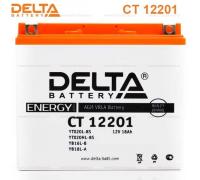 Автомобильные аккумуляторы DELTA Battery AGM 20 А/ч обратная R+ EN270 А 177x88x154 YTX20L-BS CT 12201 Обратная полярность
