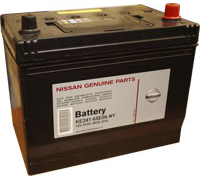Автомобильные аккумуляторы NISSAN 65 А/ч обратная R+ EN582 А 272x170x225 KR241-65E07-NY Обратная полярность