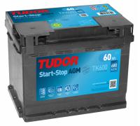 Автомобильные аккумуляторы TUDOR AGM 60 А/ч обратная R+ EN 680A 242x175x190 TK600 TK600 Обратная полярность