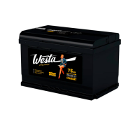 Автомобильные аккумуляторы WESTA BLACK Pretty Powerful 75 А/ч Обратная EN700 А 276x175x190 6СТ-75VLR Обратная полярность Евро
