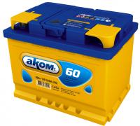 Автомобильные аккумуляторы АКОМ 60 А/ч обратная R+ EN 520A 242x175x190 6CT-60.0 LA Обратная полярность Евро